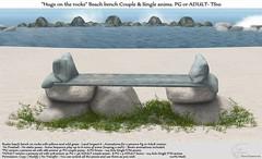".:Tm:.Creation ""Hugs on the rocks"" Beach bench TS10"
