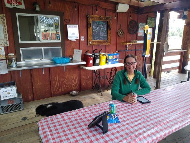 We had a burger at the Kennedy Meadows General Store - it's always great to eat real food after a week on the trail