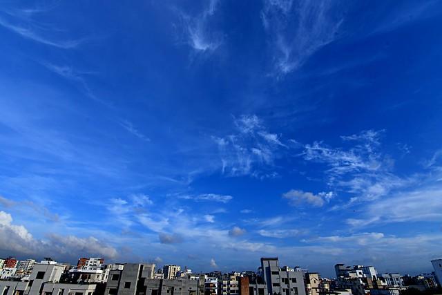 Blue Clear Monsoon Sky