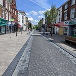 Empty high street in Preston