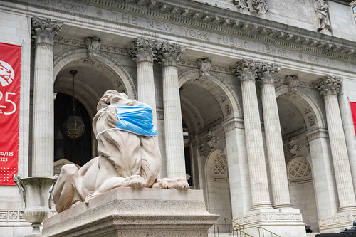 New York Public Library Lions Face Masks New York City COVID19 | by Anthony Quintano