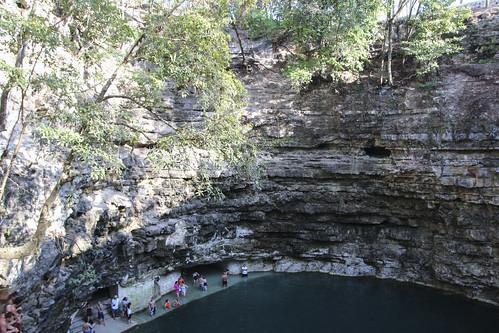 Waiting to go for a swim in the cenote, Mexico's Yucatán Peninsula