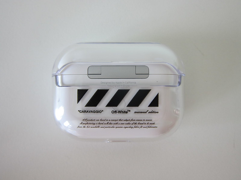 Clear Hard Plastic Case for Apple AirPods Pro - Back