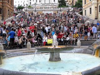 ROMA - LA PLAZA DE ESPAÑA
