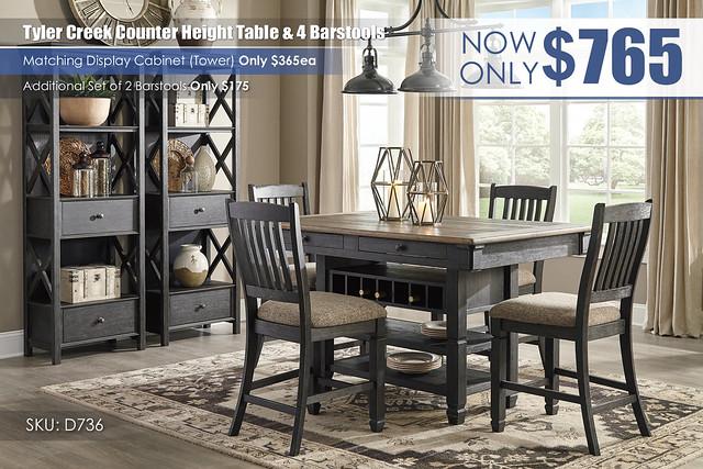 Tyler Creek Counter Height Set_D736-32-124(4)-76(2)-R400_New