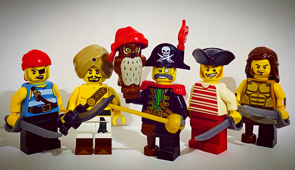Captain Monocle and his Officers of the Monocle Pirate crew!