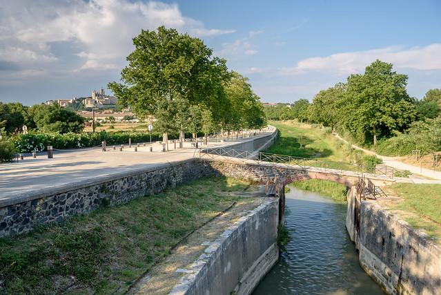 Béziers - Canal du Midi - Les 9 Écluses de Fonseranes