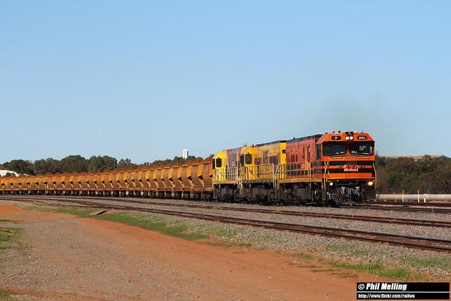 20 June 2020 P2503 P2514 P2505 7721 loaded Mount Gibson Narngulu