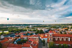 Hot air balloons | Kaunas aerial
