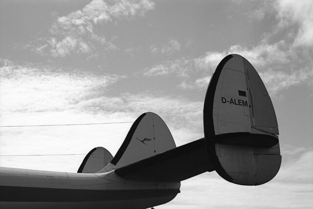Picture series of a Lockheed Constellation of Lufthansa.