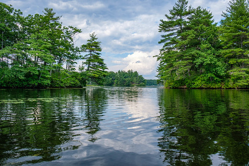 clouds handheld kayak lake landscape paddling recreation reflection sky statepark storm summer trees weather hopkinton massachusetts unitedstatesofamerica