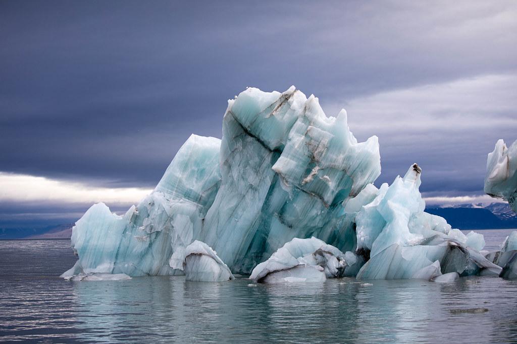 Arctic nature of Svalbard (Spitsbergen) Norway