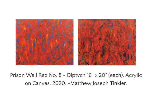 Prison Wall Red No. 8 - Diptych 16