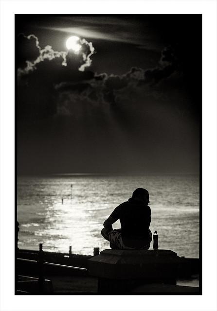 Silhouette. Cromer, Norfolk.
