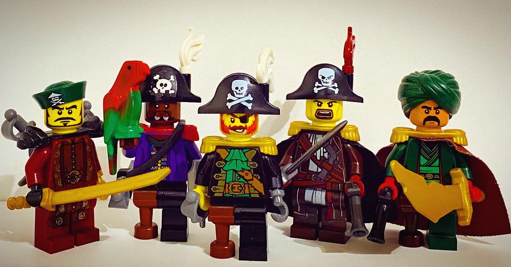 Five Lego Pirate Captains!