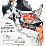 Thu, 2020-07-09 20:53 - Ad for Jugo de Rosas, Perfumería Floralia, El Hogar, Dec. 14, 1928.