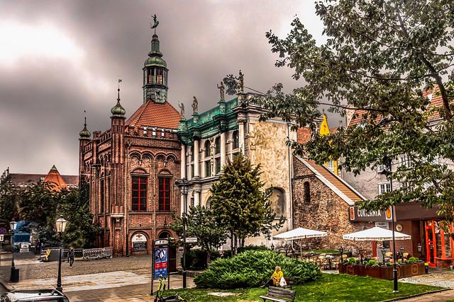 Golden Gate złota brama gdańsk  and the  Brotherhood of St. Jerzy (tower),  Gdańsk, Poland.   456-Edit-Edit
