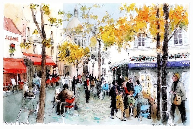 Paris - France - place du Tertre