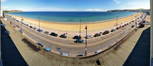 douglasseafront 180 douglas seafront car road street promenade sea seaside coast resort douglasbay irishsea manx summer june 2016 panorama