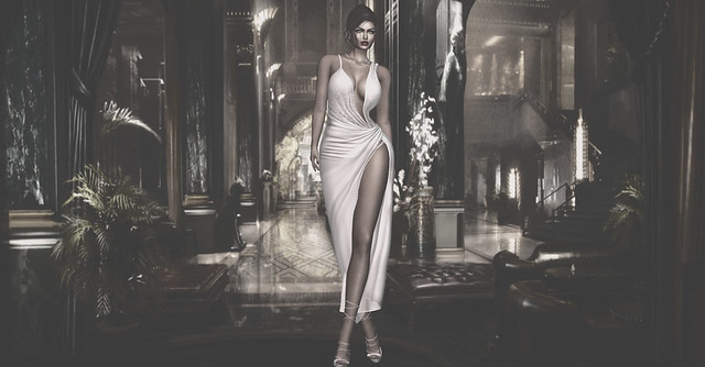 Cleo wrap gown at RESUN FASHION STORE