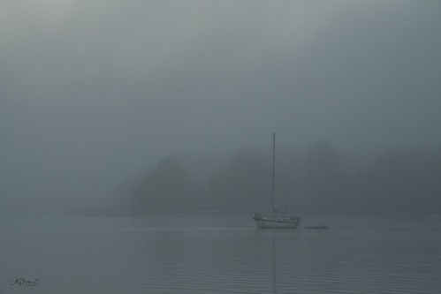 fog fujixt2 fujixf1655f28 fuji1655 chesapeakebay eastriver mobjackbay summersquall morningfog sailboat anchoredboatinfog