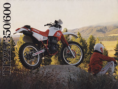 1986 Yamaha TT2250, TT350, and TT600 Brochure Page 1