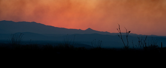 Bighorn Fire Sunset on June 29th 2020