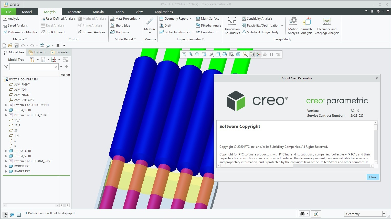 Working with PTC Creo 7.0.1.0 full license