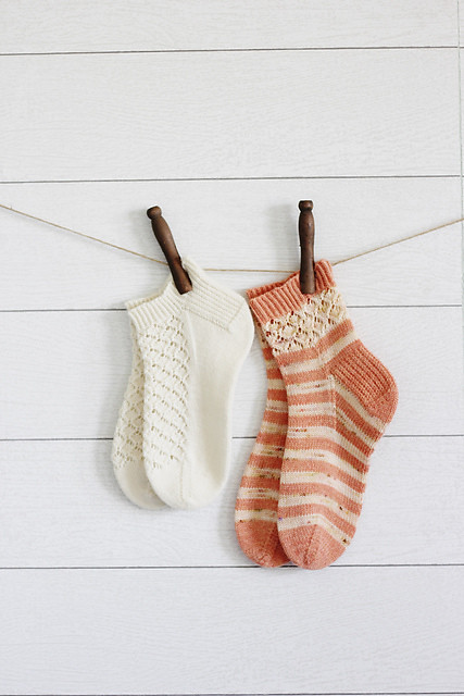 Sweet summer socks! Pattern is Midsummer Blossoms by This Handmade Life including two versions of socks to knit!
