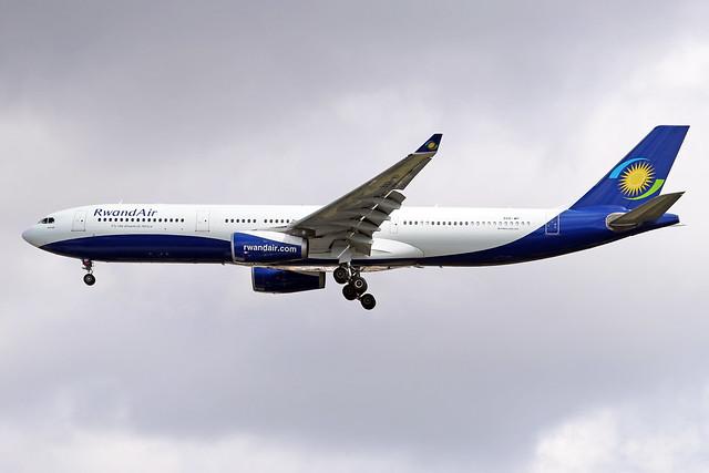 9XR-WP  -  Airbus A330-343  -  RwandAir  -  LHR/EGLL 10/7/20