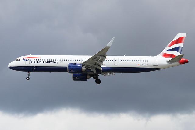 G-NEOV  -  Airbus A321-271NX  -  British Airways  -  LHR/EGLL 10/7/20