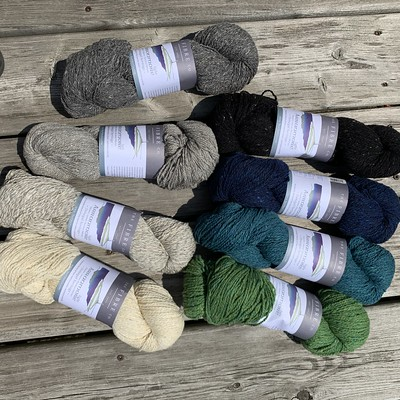 Newest shipment of The Fibre Company Arranmore Light in these colours! 328 yards of 80% merino, 10% silk, 10% cashmere.