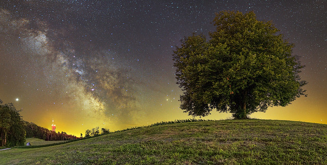 The Milky Way on the Albis ridge