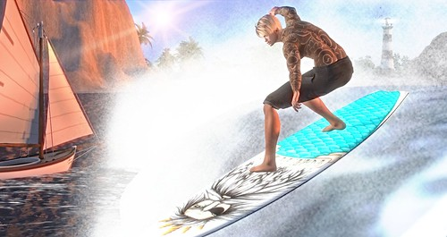 Surf's Up! 2 FREE items on SL Treasure!