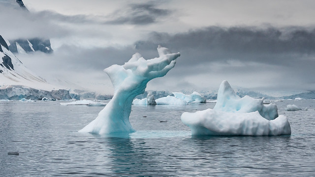God's hand touching Antarctica