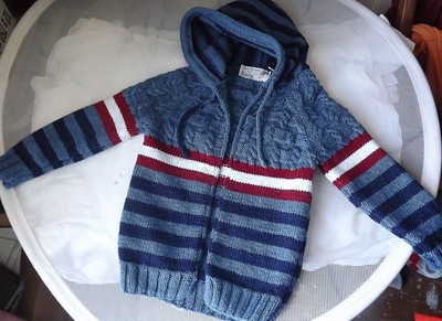 J Diane Oliver-Jensen knit this modified Wham by Martin Storey using now discontinued Rowan Original Denim combined with Butterfly Super 10!