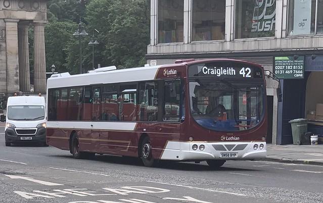 Lothian Buses 163 SN58 BYP (26/06/2019)