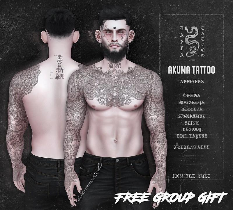 DAPPA - Akuma Tattoo. FREE GIFT!