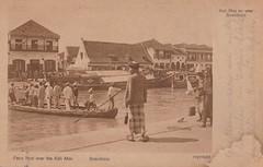 Surabaya - Ferry over the Kali Mas, 1922