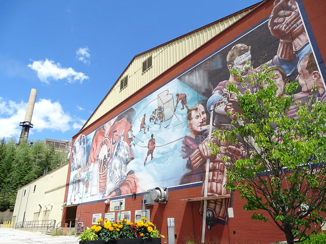 Public Mural for Trail Smoke Eaters - World Hockey Champions - Trail - BC - Canada