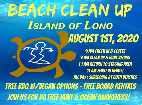 Beach Clean up day @ Island of Lono! 8/1