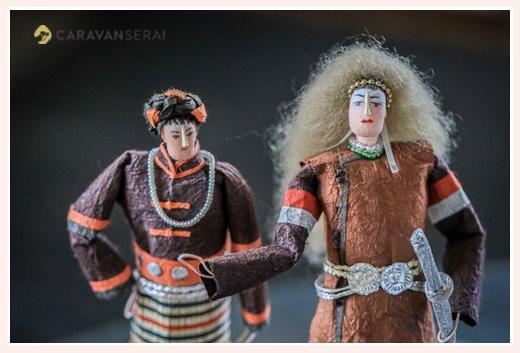 中国の少数民族(珞巴族) | 紙人形作家、故「荻原敏子」氏の作品