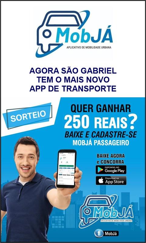 Chegou em São Gabriel seu mais novo app de transporte - MOBJA, baixe agora!