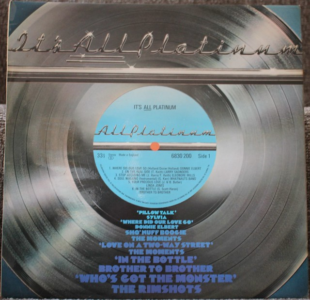 It's All Platinum Various Vinyl Album 1972-73