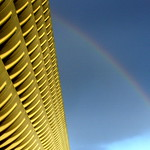 Rainbow over Preston Bus Station