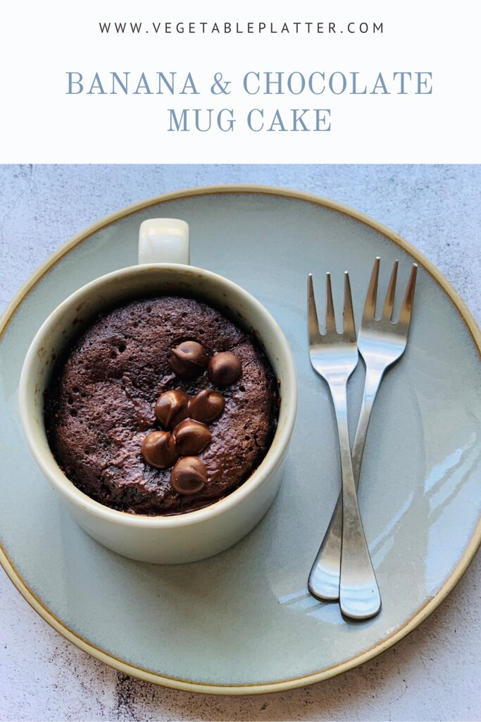 Microwave Eggless Chocolate & Banana Mug Cake