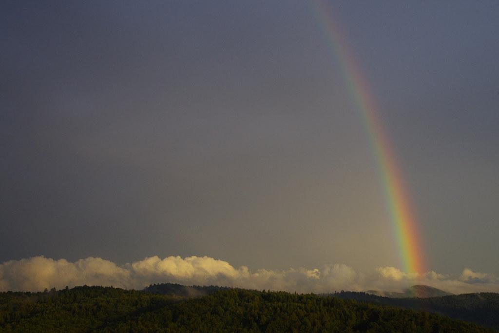 Tęcza nad Grodziskiem / Rainbow over Grodzisko
