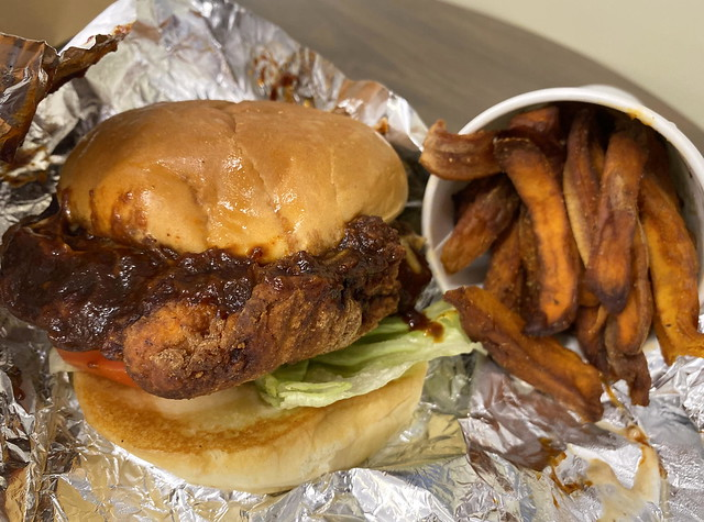 Nashville Chicken and Sweet Potato Fries