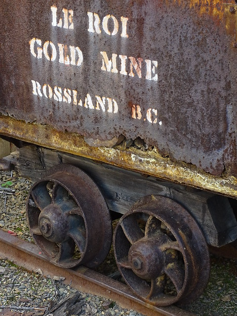 Wagon from Le Roi Gold Mine - Rossland Museum - Rossland - BC - Canada