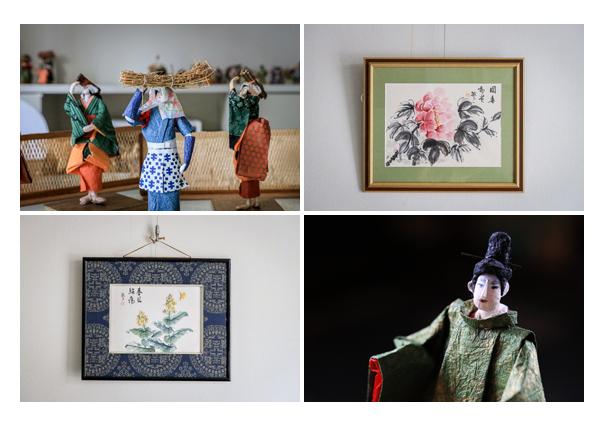 日本画 | 紙人形作家、故「荻原敏子」氏の作品